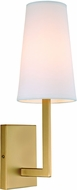 JVI Designs 431-10 Sullivan Satin Brass Wall Sconce Lighting