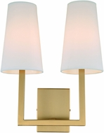 JVI Designs 432-10 Sullivan Satin Brass Wall Light Sconce