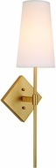 JVI Designs 435-10 Astor Satin Brass Wall Light Sconce