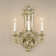 JVI Designs 633-05 Ornate 21 Inch Tall Antique Brass Candle Lamp Sconce