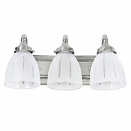 JVI Designs 715 17 Inch Wide 3 Lamp Vanity Lighting With Finish Options