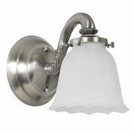 JVI Designs 843-17 Transitional Style Pewter Finish 6 Inch Tall Lamp Sconce