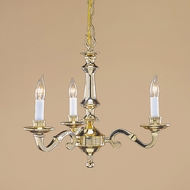 JVI Designs 903-01 Mini 18 Inch Diameter Polished Brass Candle Chandelier