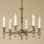 JVI Designs 904 6 Light Transitional Style 18 Inch Diameter Candle Chandelier