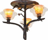 Kalco 2517 Cottonwood Rustic Halogen Ceiling Lighting