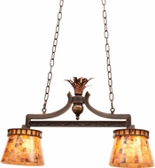 Kalco 2597 Marlowe Rustic Antique Copper Island Light Fixture