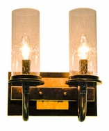 Kalco 2712 Bentham Natural Iron Traditional 10 Inch Wide 2 Lamp Wall Light Fixture