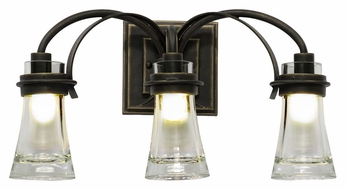 Kalco 2913 Dover Transitional 20 Inch Wide 3 Lamp Vanity Light Fixture