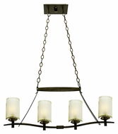 Kalco 2995 Stapleford Tuscan Sun Finish Island Lighting - 32 Inches Wide