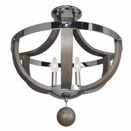Kalco 300440CH Sharlow Contemporary Chrome Ceiling Light