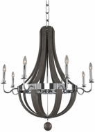 Kalco 300484CH Sharlow Contemporary Chrome Chandelier Lighting