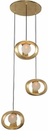 Kalco 302351GL Calistoga Modern Gold Leaf Xenon Multi Pendant Light