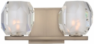 Kalco 302832SN Regent Contemporary Satin Nickel LED 2-Light Bathroom Light