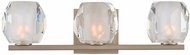 Kalco 302833SN Regent Contemporary Satin Nickel LED 3-Light Vanity Lighting