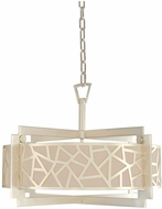 Kalco 303553RS Miramar Contemporary Rose Silver 26  Drum Hanging Lamp