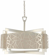 Kalco 303554RS Miramar Modern Rose Silver 32  Drum Hanging Light