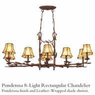 Kalco 3038 Ponderosa 8-Light Rectangular Chandelier