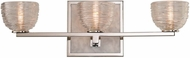 Kalco 304533PN Bianco Contemporary Polished Nickel LED 3-Light Lighting For Bathroom