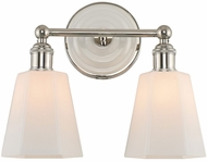 Kalco 305032PN Greenwich Polished Nickel 2-Light Bath Sconce