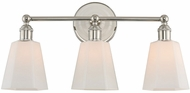 Kalco 305033PN Greenwich Polished Nickel 3-Light Vanity Light Fixture