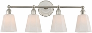 Kalco 305034PN Greenwich Polished Nickel 4-Light Vanity Lighting Fixture