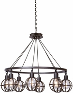 Kalco 305552TP Cape May Contemporary Tawny Port Lighting Chandelier