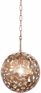 Kalco 306911AF Belladonna Contemporary Antique Silver Leaf Mini Pendant Light Fixture