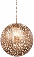 Kalco 306950AF Belladonna Contemporary Antique Silver Leaf 26  Hanging Pendant Lighting
