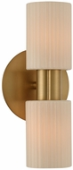 Kalco 308420WB Harlowe Modern Winter Brass Wall Light Fixture