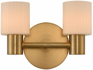 Kalco 308432WB Harlowe Modern Winter Brass LED 2-Light Bathroom Vanity Light