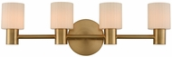 Kalco 308434WB Harlowe Modern Winter Brass LED 5-Light Bath Sconce