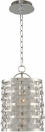 Kalco 308711SL Bridgeport Modern Brushed Stainless Steel 9  Mini Drum Hanging Lamp