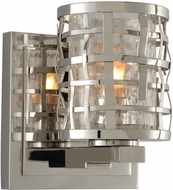 Kalco 308731SL Bridgeport Contemporary Brushed Stainless Steel Xenon Light Sconce