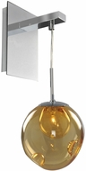 Kalco 309520CH-AMBER Meteor Contemporary Chrome Halogen Wall Lighting