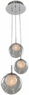 Kalco 309540CH-CLEAR Meteor Contemporary Chrome Halogen Multi Lighting Pendant