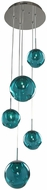 Kalco 309541CH-AQUA Meteor Modern Chrome Halogen Multi Hanging Light