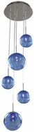 Kalco 309541CH-SAPPH Meteor Modern Chrome Halogen Multi Pendant Lighting Fixture