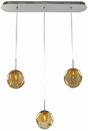 Kalco 309542CH-AMBER Meteor Contemporary Chrome Halogen Multi Hanging Pendant Lighting