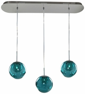 Kalco 309542CH-AQUA Meteor Modern Chrome Halogen Multi Hanging Pendant Light
