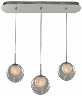 Kalco 309542CH-CLEAR Meteor Contemporary Chrome Halogen Multi Pendant Hanging Light