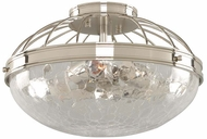 Kalco 311341PN Montauk Contemporary Polished Nickel 14  Ceiling Light