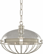 Kalco 311353PN Montauk Contemporary Polished Nickel 14  Drop Ceiling Lighting