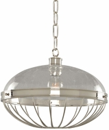 Kalco 311354PN Montauk Modern Polished Nickel 16  Ceiling Light Pendant