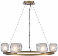 Kalco 311750WB Stella Modern Winter Brass LED 26  Ceiling Chandelier