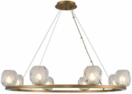 Kalco 311751WB Stella Contemporary Winter Brass LED 34  Hanging Chandelier