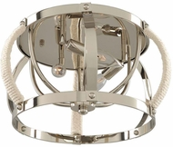 Kalco 312540PN Bradbury Contemporary Polished Nickel Ceiling Lighting Fixture