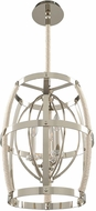 Kalco 312551PN Bradbury Contemporary Polished Nickel 15  Drop Ceiling Light Fixture