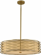 Kalco 312752VBR Paloma Modern Vintage Brass LED Drum Hanging Lamp