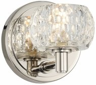 Kalco 312831PN Ella Contemporary Polished Nickel LED Wall Lamp