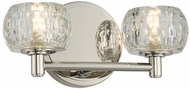 Kalco 312832PN Ella Modern Polished Nickel LED 2-Light Bathroom Vanity Light Fixture